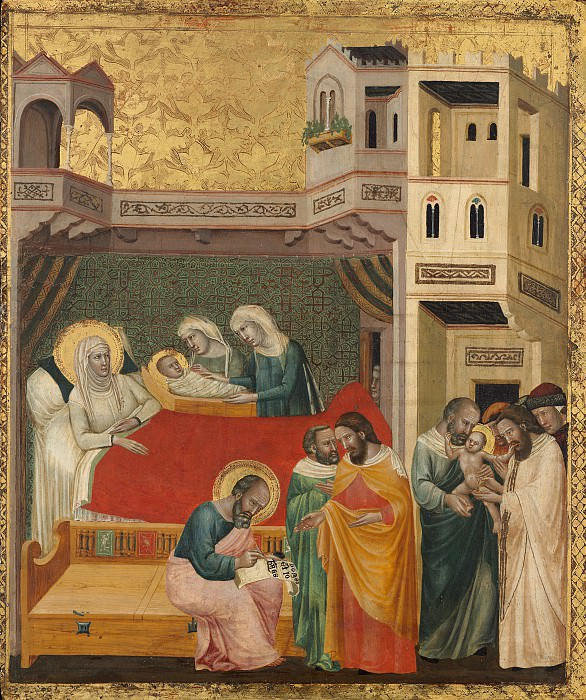 Итальянский художник 14 века - Сцены из жизни святого Иоанна Крестителя. Национальная галерея искусств (Вашингтон)