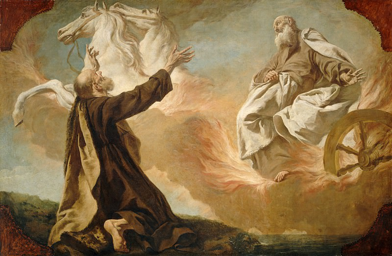 Giuseppe Angeli - Elijah Taken Up in a Chariot of Fire. National Gallery of Art (Washington)