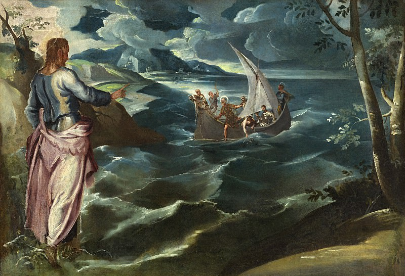 Jacopo Tintoretto - Christ at the Sea of Galilee. National Gallery of Art (Washington)