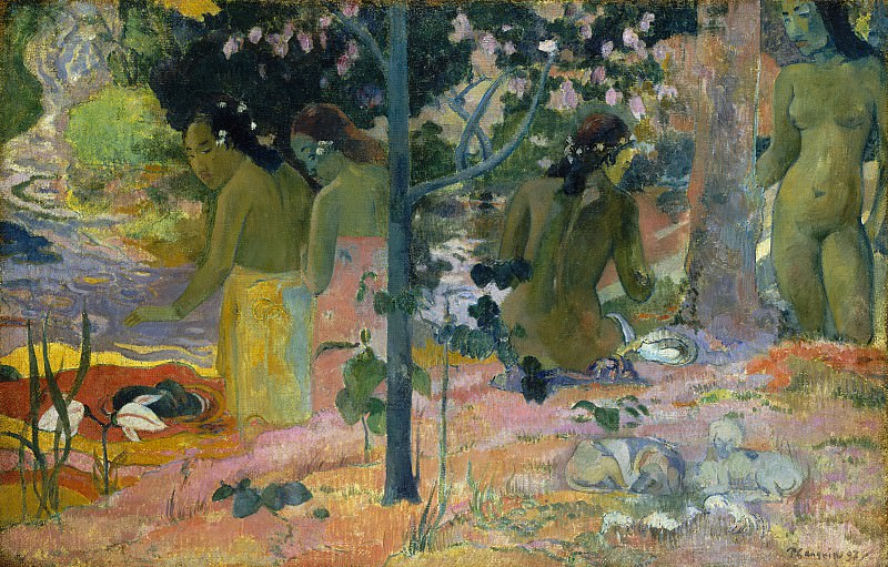Paul Gauguin - The Bathers. National Gallery of Art (Washington)