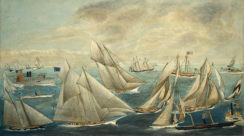 American 19th Century - Imaginary Regatta of America's Cup Winners. National Gallery of Art (Washington)