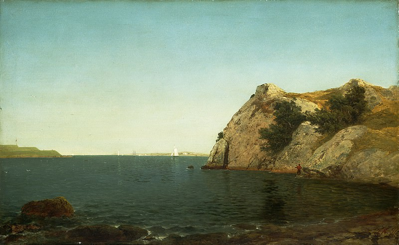 John Frederick Kensett - Beacon Rock, Newport Harbor. National Gallery of Art (Washington)