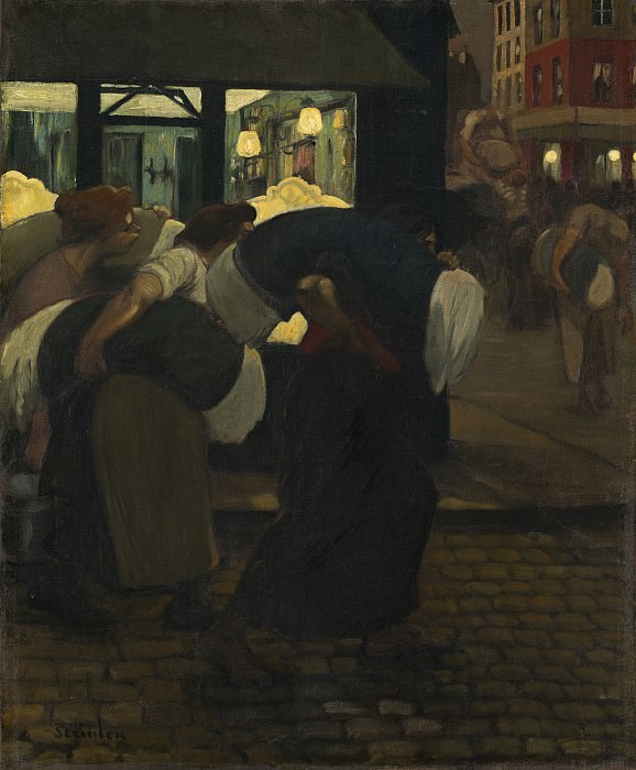 Theophile Alexandre Steinlen - The Laundresses. National Gallery of Art (Washington)