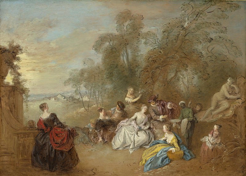 Jean-Baptiste Joseph Pater - On the Terrace. National Gallery of Art (Washington)