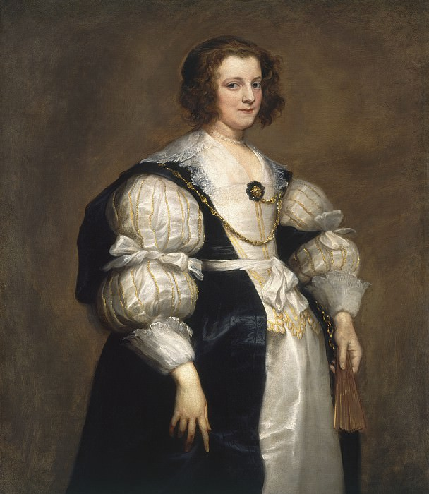 Sir Anthony van Dyck - Lady with a Fan. National Gallery of Art (Washington)