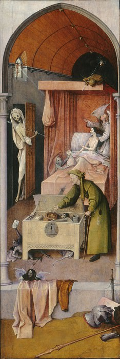 Hieronymus Bosch - Death and the Miser. National Gallery of Art (Washington)