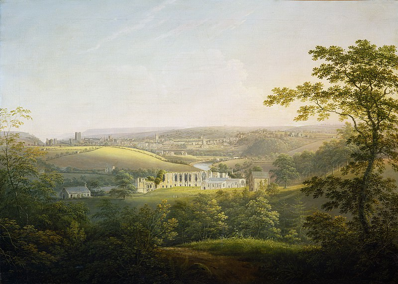 George Cuitt the Younger - Easby Abbey, near Richmond. National Gallery of Art (Washington)