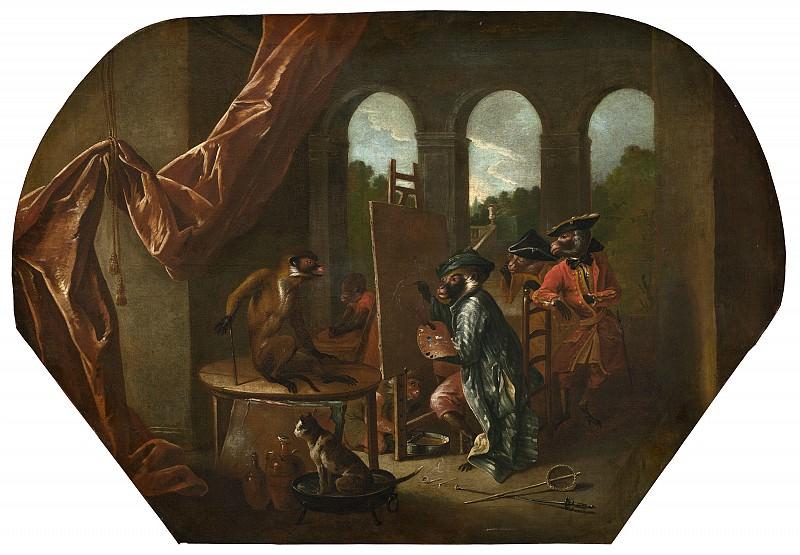 Christophe Huet - Singerie: The Painter. National Gallery of Art (Washington)