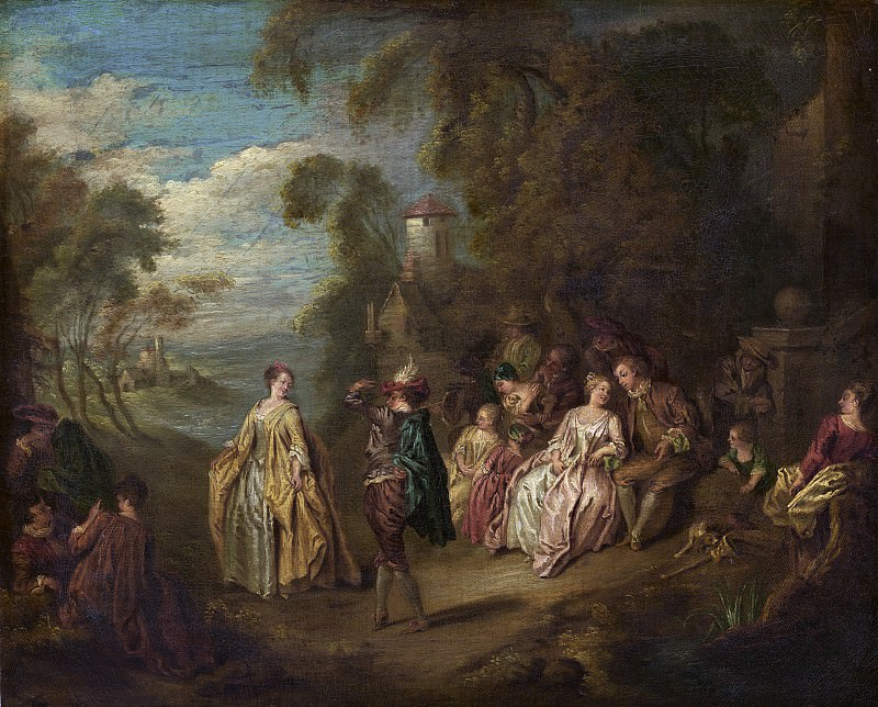 after Jean-Baptiste Joseph Pater - Fete Champetre. National Gallery of Art (Washington)