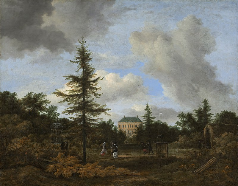 Jacob van Ruisdael - Country House in a Park. National Gallery of Art (Washington)