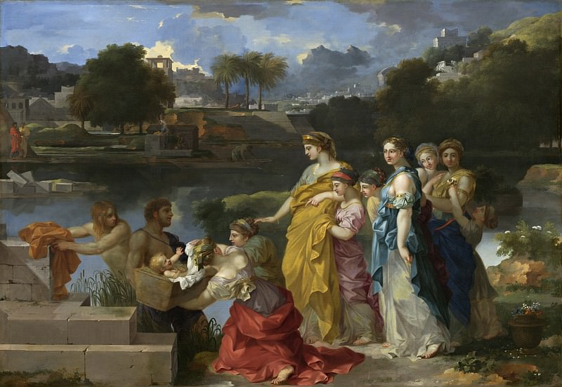 Sebastien Bourdon - The Finding of Moses. National Gallery of Art (Washington)