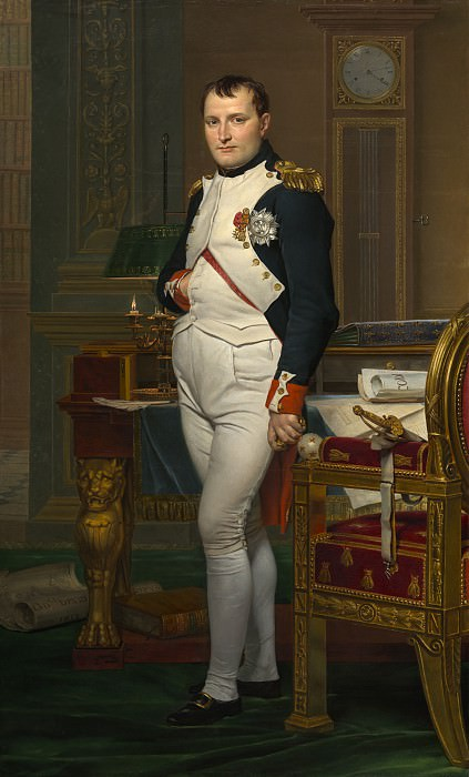 Jacques-Louis David - The Emperor Napoleon in His Study at the Tuileries. National Gallery of Art (Washington)