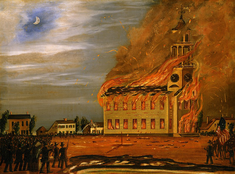 John Hilling - Burning of Old South Church, Bath, Maine. National Gallery of Art (Washington)