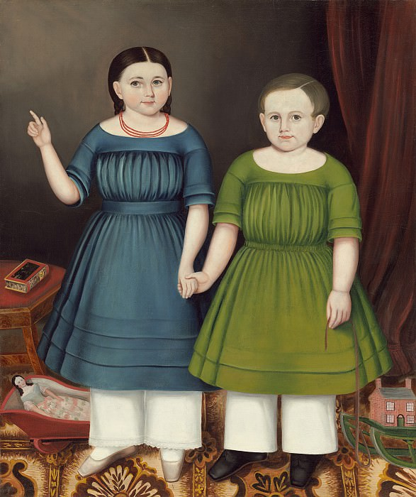 Joseph Whiting Stock - Mary and Francis Wilcox. National Gallery of Art (Washington)