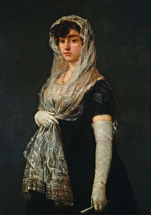 Гойя, Франсиско де - Молодая дама в мантилье и баскине. Национальная галерея искусств (Вашингтон)