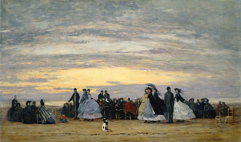 Eugene Boudin - The Beach at Villerville. National Gallery of Art (Washington)