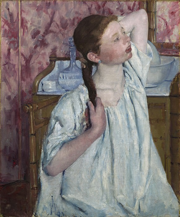 Mary Cassatt - Girl Arranging Her Hair. National Gallery of Art (Washington)