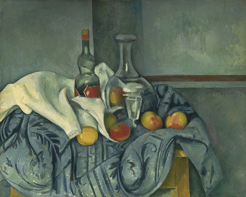 Paul Cezanne - The Peppermint Bottle. National Gallery of Art (Washington)