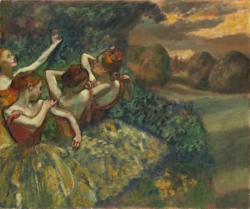 Дега, Эдгар - Четыре танцовщицы. Национальная галерея искусств (Вашингтон)