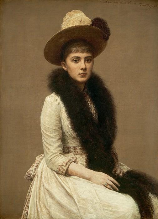 Henri Fantin-Latour - Portrait of Sonia. National Gallery of Art (Washington)