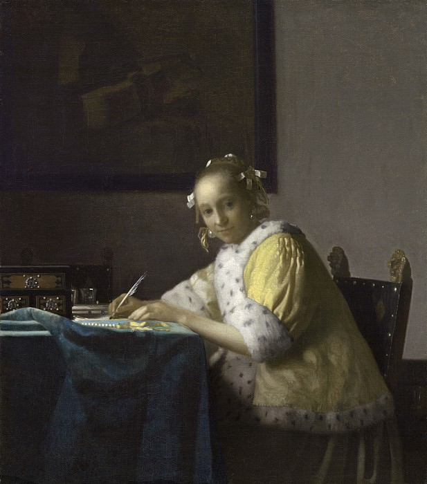 Johannes Vermeer - A Lady Writing. National Gallery of Art (Washington)