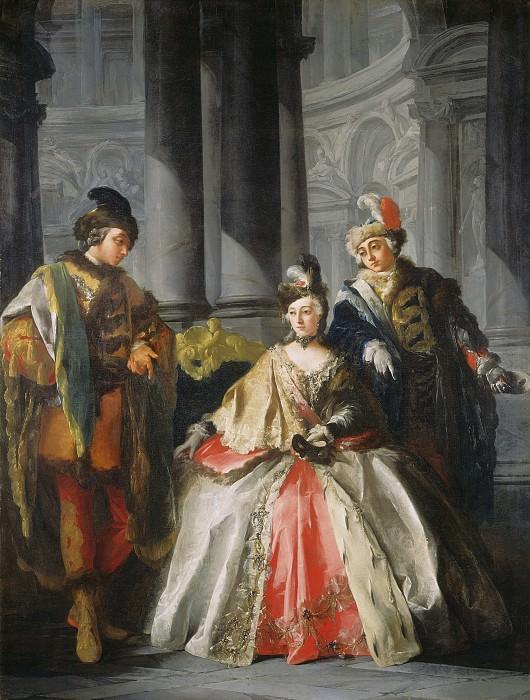 Louis-Joseph Le Lorrain - Three Figures Dressed for a Masquerade. National Gallery of Art (Washington)