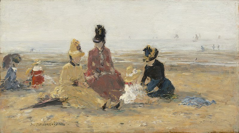 Eugene Boudin - On the Beach, Trouville. National Gallery of Art (Washington)