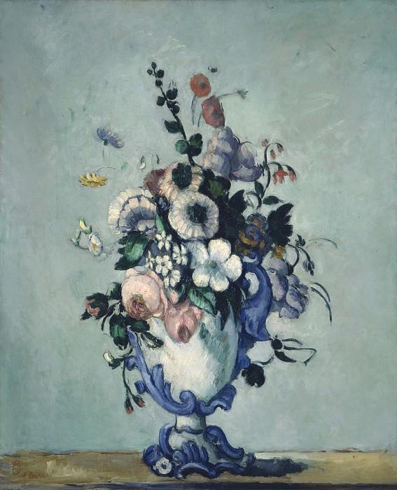 Paul Cezanne - Flowers in a Rococo Vase. National Gallery of Art (Washington)