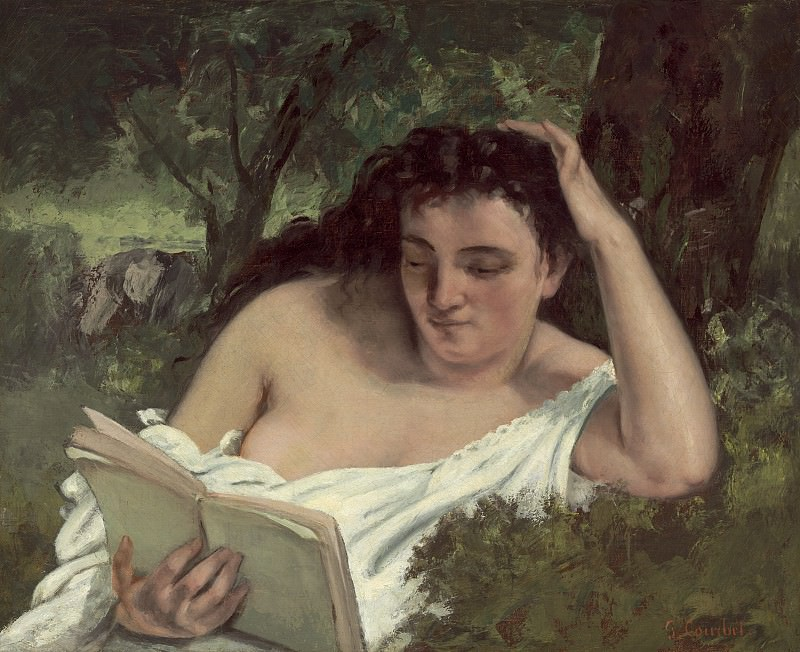 Gustave Courbet - A Young Woman Reading. National Gallery of Art (Washington)