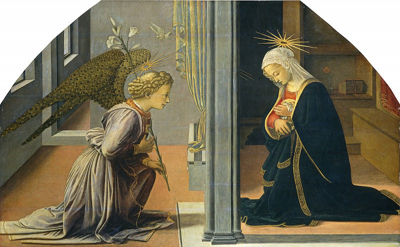 Fra Filippo Lippi - The Annunciation. National Gallery of Art (Washington)