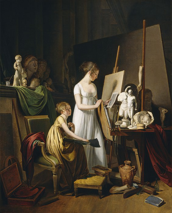 Louis-Leopold Boilly - A Painter's Studio. National Gallery of Art (Washington)