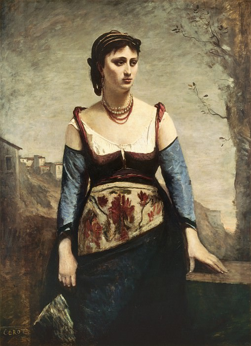 Jean-Baptiste-Camille Corot - Agostina. National Gallery of Art (Washington)