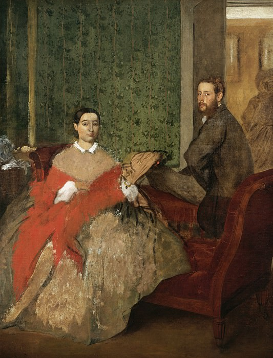 Edgar Degas - Edmondo and Therese Morbilli. National Gallery of Art (Washington)