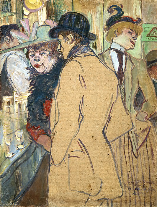 Henri de Toulouse-Lautrec - Alfred la Guigne. National Gallery of Art (Washington)