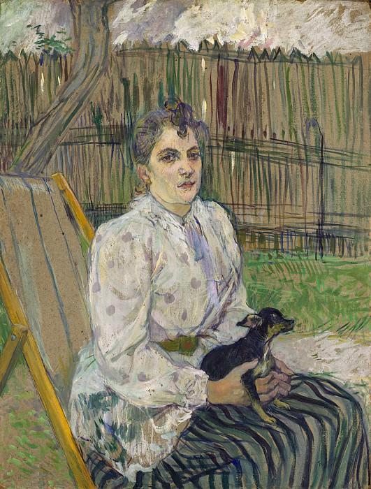 Henri de Toulouse-Lautrec - Lady with a Dog. National Gallery of Art (Washington)