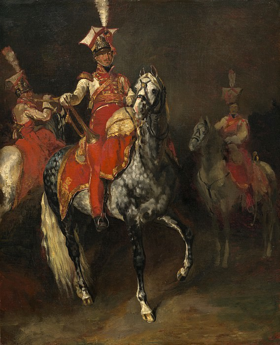 Theodore Gericault - Mounted Trumpeters of Napoleon's Imperial Guard. National Gallery of Art (Washington)