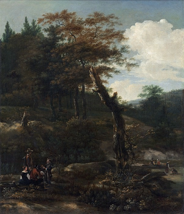 Adam Pynacker - Wooded Landscape with Travelers. National Gallery of Art (Washington)