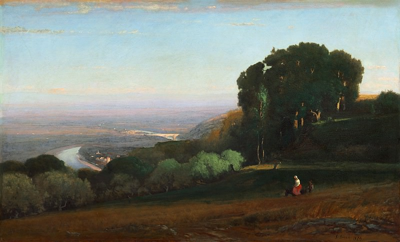 George Inness - View of the Tiber near Perugia. National Gallery of Art (Washington)