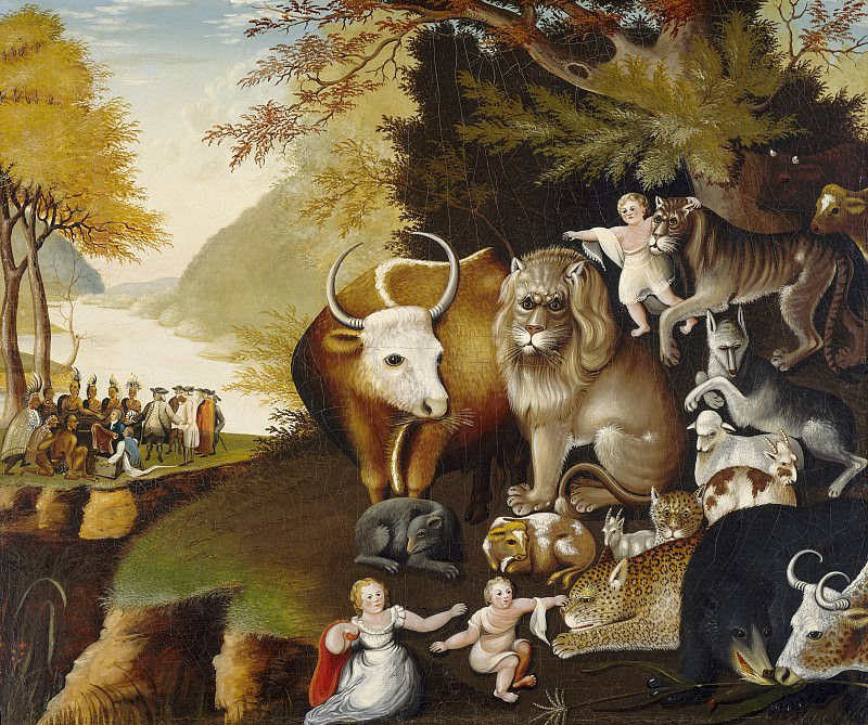 Edward Hicks - Peaceable Kingdom. National Gallery of Art (Washington)