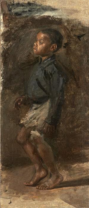 Икинс, Томас - Эскиз для «Танцующего негритёнка»: мальчик. Национальная галерея искусств (Вашингтон)
