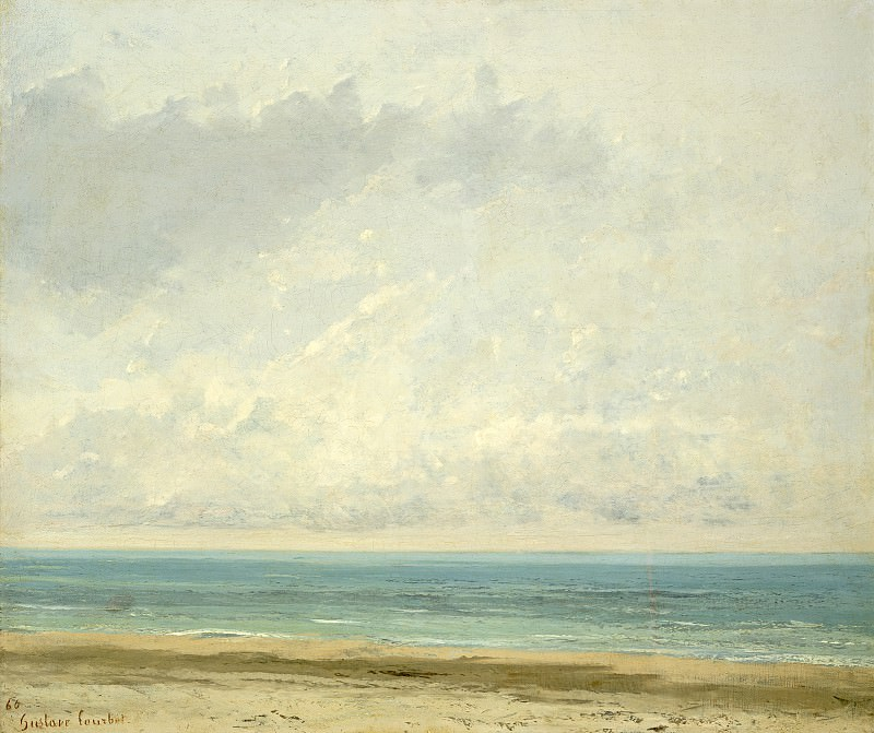 Gustave Courbet - Calm Sea. National Gallery of Art (Washington)