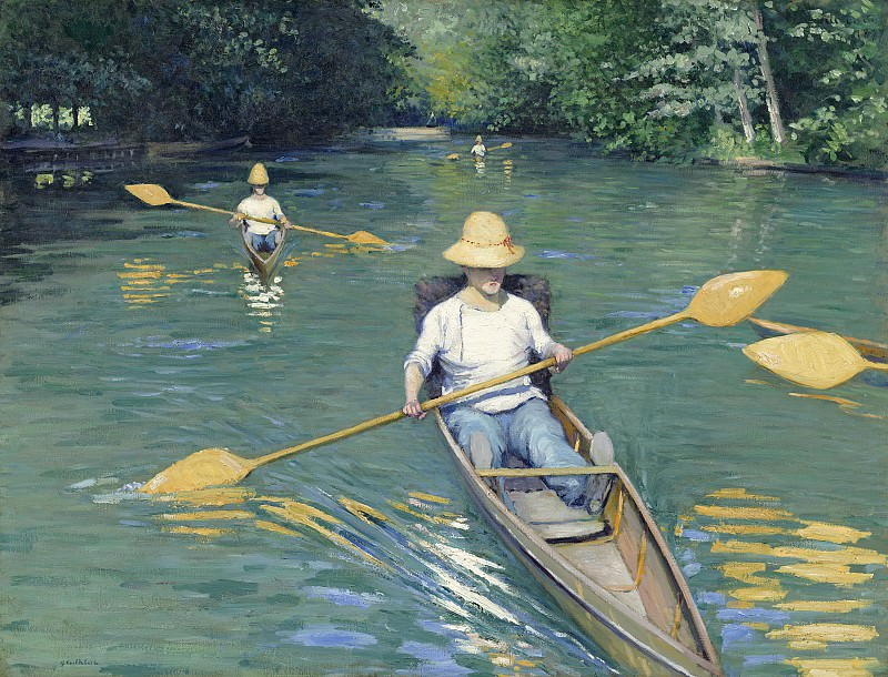 Gustave Caillebotte - Skiffs. National Gallery of Art (Washington)