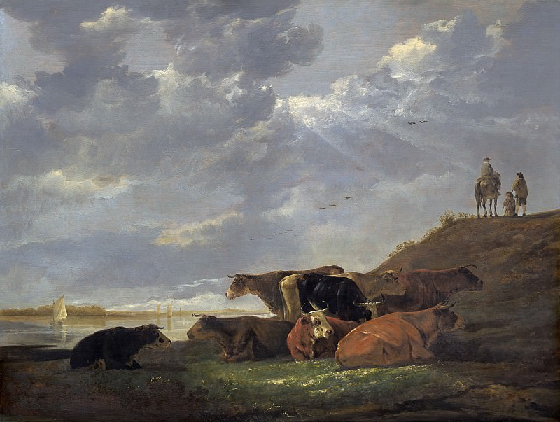Aelbert Cuyp - River Landscape with Cows. National Gallery of Art (Washington)