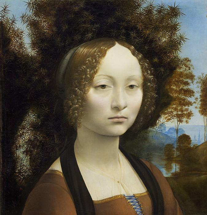 Leonardo da Vinci - Ginevra de' Benci. National Gallery of Art (Washington) (obverse)