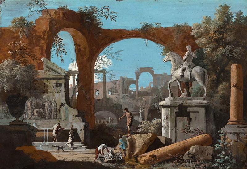 Marco Ricci - A Capriccio of Roman Ruins. National Gallery of Art (Washington)