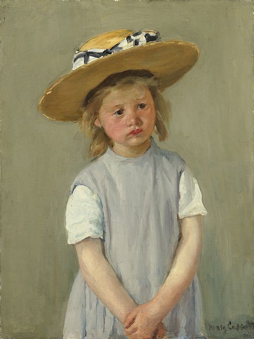 Mary Cassatt - Child in a Straw Hat. National Gallery of Art (Washington)