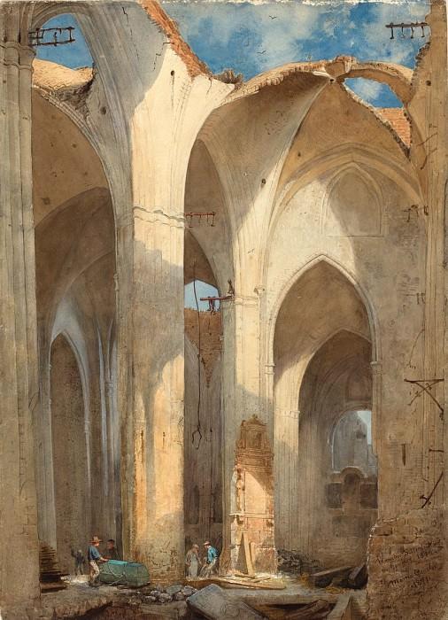 Генслер, Мартин - Руины церкви Святого Николая в Гамбурге. Национальная галерея искусств (Вашингтон)