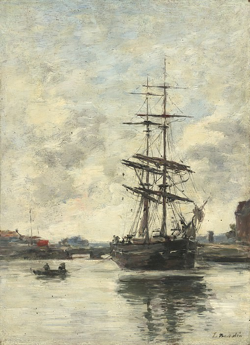 Eugene Boudin - Ship on the Touques. National Gallery of Art (Washington)