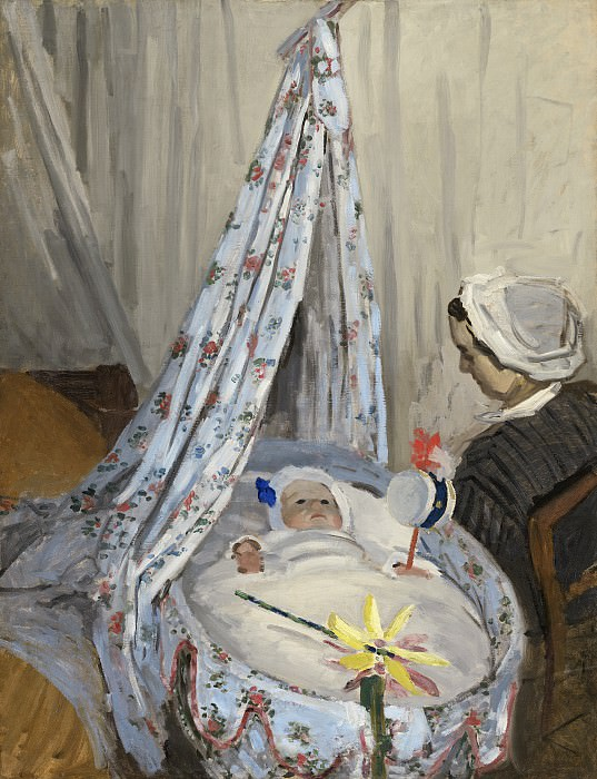 Claude Monet - The Cradle - Camille with the Artist's Son Jean. National Gallery of Art (Washington)