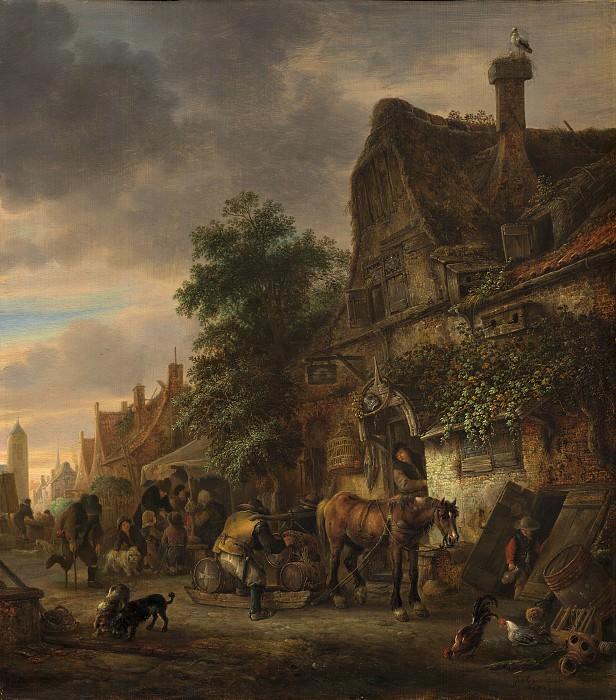 Isack van Ostade - Workmen before an Inn. National Gallery of Art (Washington)
